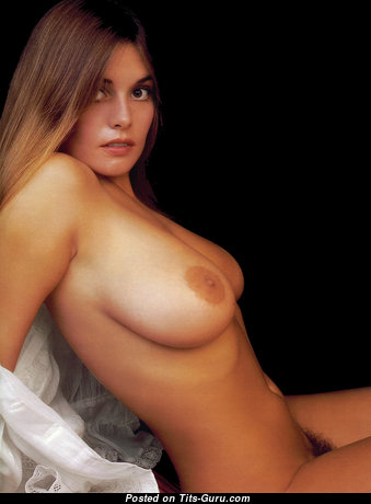 Marilyn Lange - Pretty Topless American Playboy Red Hair with Amazing Nude Real Average Boobs (Vintage Xxx Image)