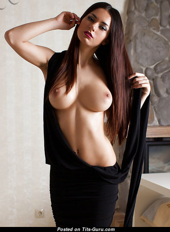 Sexy nude beautiful female with natural breast photo