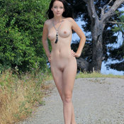Amazing woman with medium natural tittes image