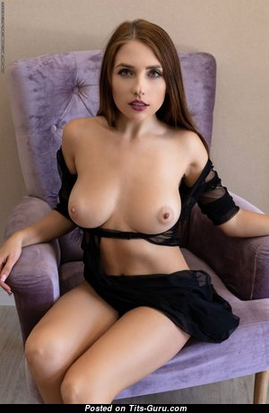 Niemira - The Best Ukrainian Red Hair with The Best Open Natural Balloons & Puffy Nipples (Hd Sexual Picture)