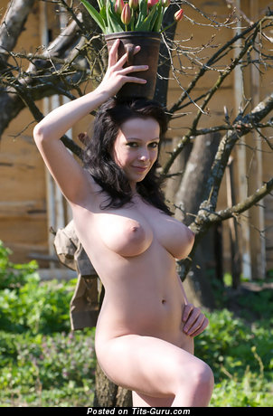 Image. Naked wonderful female with big natural tots image