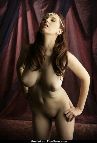 Image. Sarah - brunette with natural boobs and big nipples image