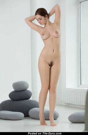 Image. Kamilla J - nude wonderful lady with medium natural tits picture