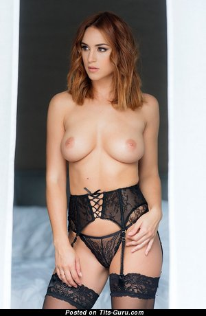 Image. Rosie Jones - sexy naked wonderful female with medium natural breast photo