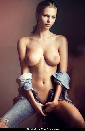 Karolina Szymczak - Graceful Polish Blonde Babe with Graceful Nude Natural Average Titty (Hd 18+ Image)