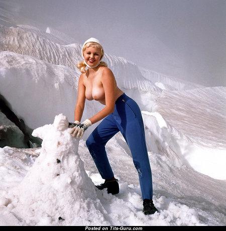 Carol Eden - Splendid American Playboy Blonde with Splendid Bald Natural Firm Breasts (Vintage Hd Porn Photoshoot)