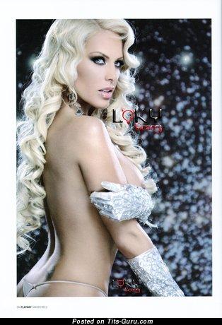 Lorena Herrera - Elegant Mexican Blonde Actress with Elegant Exposed Fake Soft Boobys (Hd Porn Photoshoot)