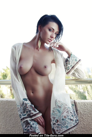 Yulia Pilushka Androschuk - Gorgeous Topless Russian Brunette with Gorgeous Defenseless Real C Size Titty (Porn Wallpaper)