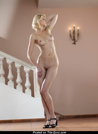 Image. Victoria - nude blonde with medium natural boobies image