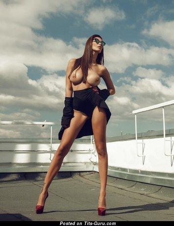 Bilyana Evgenieva - Graceful Topless Bulgarian Babe with Graceful Naked Mid Size Balloons (Sex Photoshoot)