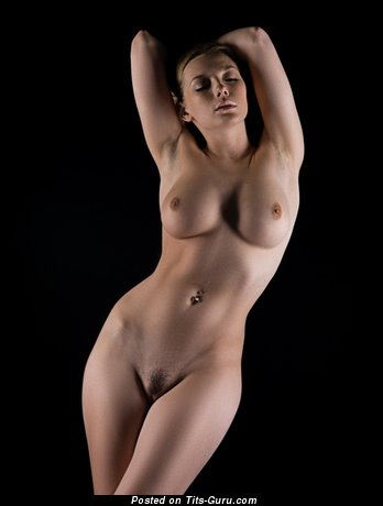 Olga Kobzar - sexy nude nice woman with medium natural tots picture