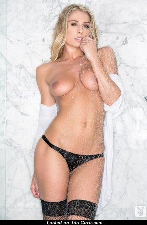 Image. Nude wonderful girl with medium natural boobies image