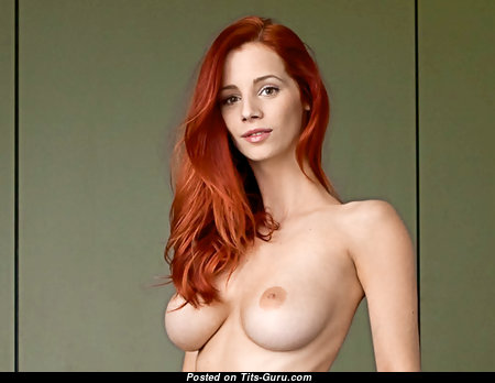 Ariel Piper Fawn - Good-Looking Czech Red Hair Babe & Pornstar with Good-Looking Naked Natural Mid Size Tits & Huge Nipples (Porn Wallpaper)