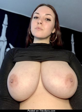Cute Glamour Babe with Cute Bald Natural Full Knockers & Puffy Nipples (Hd Porn Image)