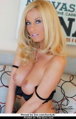 Anita Dark - Pretty Hungarian Gal with Pretty Defenseless Natural Mega Boobys (Sexual Photo)