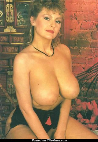 Carolyn Mooney - Pleasing Blonde Babe with Pleasing Exposed Real C Size Boobs (Vintage Porn Image)