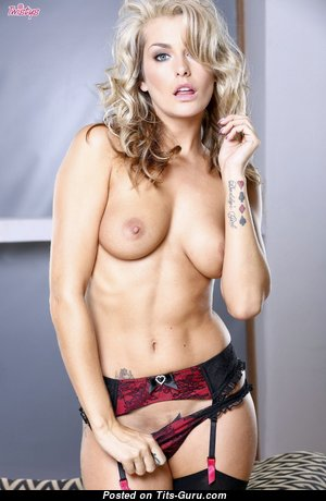 Natasha Marley - Marvelous British Blonde Girlfriend with Marvelous Bare Real Tit in Lingerie (Hd Xxx Image)