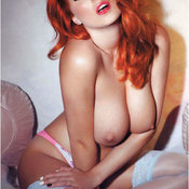 Red hair with big natural boobs photo