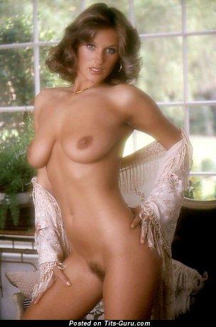 Deborah Peterson - Superb Playboy Brunette Babe with Superb Exposed Natural Normal Boobies (Vintage Hd Sexual Pix)