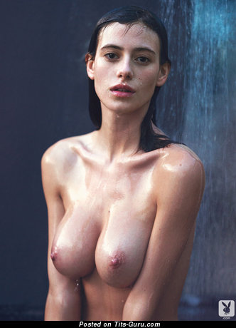 Alejandra Guilmant - wet nude latina red hair with medium natural tots and big nipples pic