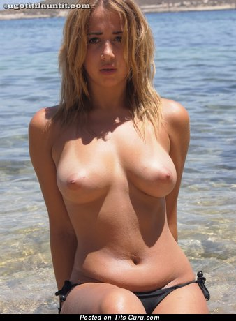 Image. Sexy nude blonde with big natural boobs image
