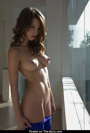 Nice Babe with Nice Naked Real Mid Size Breasts (Hd Porn Photo)