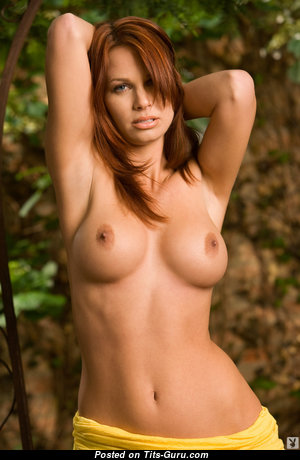 Aj Alexander - Perfect Topless & Glamour American Playboy Brunette with Perfect Defenseless Medium Sized Breasts & Long Nipples (Hd Sex Image)