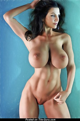 Superb Brunette Babe with Superb Defenseless Silicone Hefty Tots (Xxx Image)
