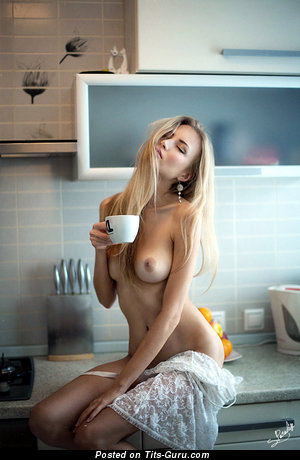Image. Naked wonderful girl with medium natural boobies picture