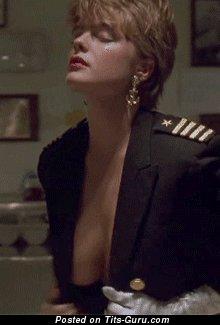 Erika Eleniak - sexy topless blonde with medium boobs vintage gif