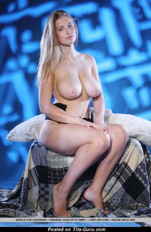Image. Sheela A - sexy naked blonde with medium natural boob photo