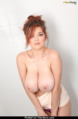 Tessa Fowler - The Best Topless American Red Hair Babe with The Best Bald Natural Gargantuan Tit & Huge Nipples (Hd Sex Photo)