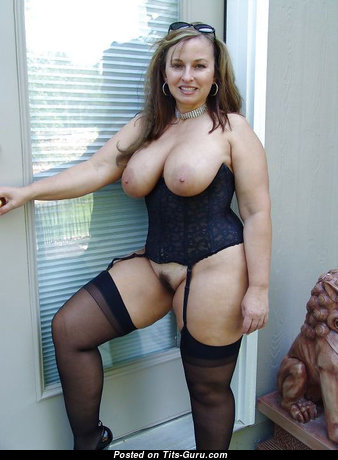 Handsome Glamour Dish with Handsome Defenseless Natural C Size Titties in Stockings & Lingerie (Xxx Pic)
