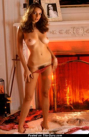 Liz Glazowski - naked brunette with medium natural boobs vintage