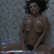 Sexy wet naked brunette with big tittes gif