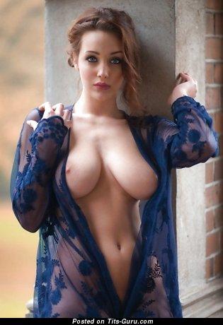 Pleasing Brunette Babe with Pleasing Exposed Real Medium Boob (18+ Pix)