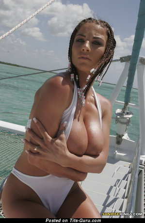 Image. Roberta Missoni - sexy topless brunette with big natural boob picture