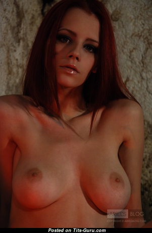 Ariel Piper Fawn - Adorable Czech Red Hair Babe & Pornstar with Adorable Naked Natural Regular Tit & Pointy Nipples (Hd Sex Pix)