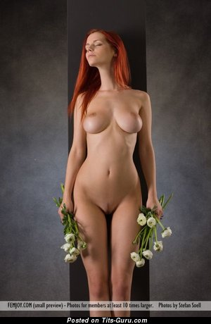 Image. Nude awesome female with big natural boob image