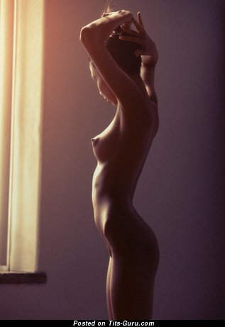 Naked awesome girl with small natural breast picture