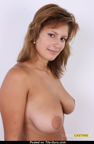 Lucie Czech Casting 5907) - Dazzling Topless Brunette with Dazzling Bald Real Firm Chest (Xxx Photo)