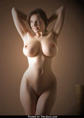 Image. Naked awesome lady with huge fake tits photo