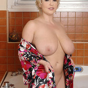 Hot girl with huge natural tits image