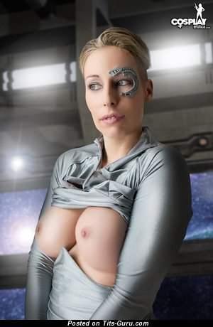 Fascinating Babe with Fascinating Bare Medium Sized Tittes (Cosplay Hd Xxx Photo)