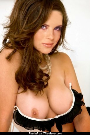 Sexy nude amazing woman with medium natural boobs photo