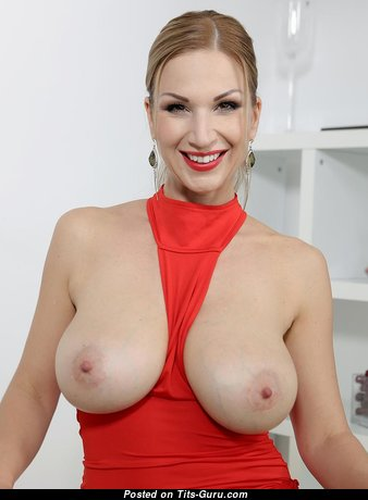Clara Goldnerova - Fascinating Babe & Pornstar with Fascinating Bald Real Medium Sized Titty & Puffy Nipples (18+ Picture)