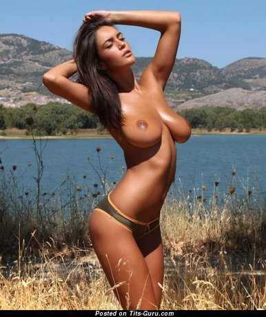 Image. Naked wonderful female with big natural boob picture