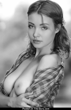 The Nicest Babe with Stunning Defenseless Real Normal Tits (Hd Porn Pic)