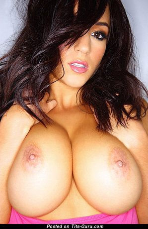 Image. Rosie Jones - sexy nude brunette with medium natural tittes picture