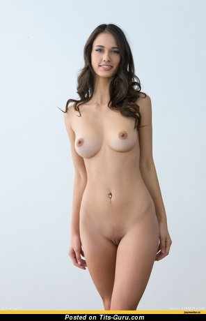 Image. Naked wonderful girl with medium natural boobies image